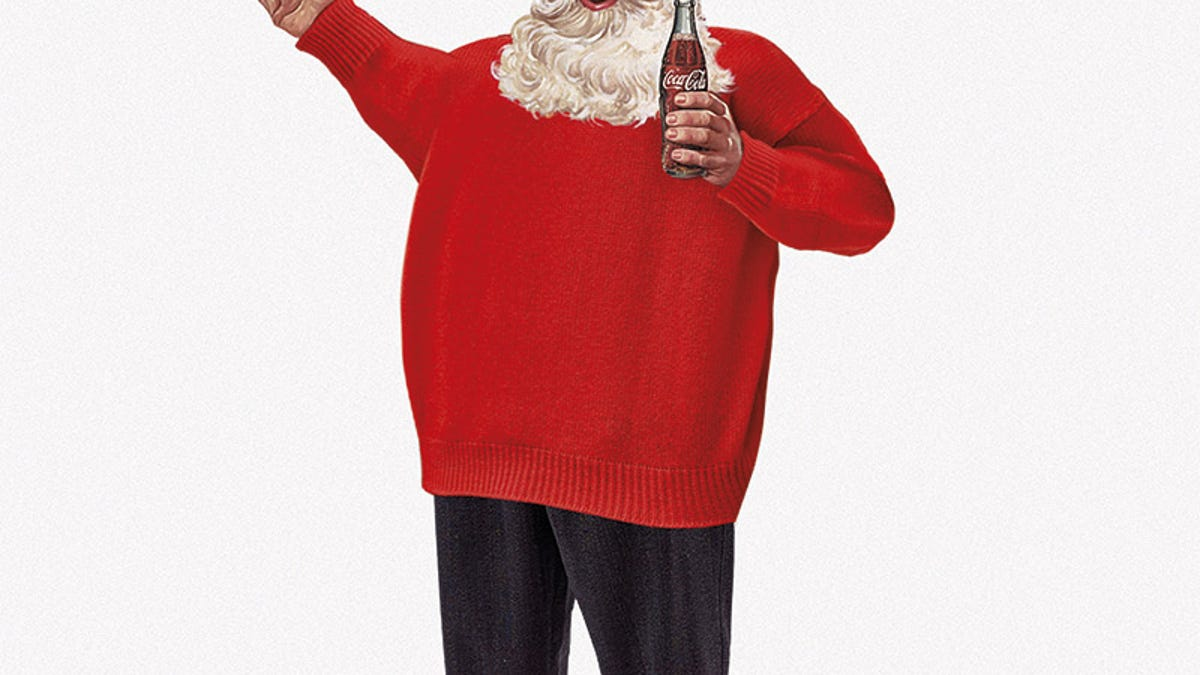 23780740edce6 Designer postcards turn Santa into fashion whore