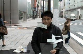 Illustration for article titled iPads Now Being Used In Japanese Streetside Magic Tricks