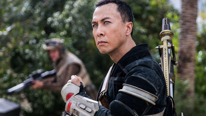 Donnie Yen, seen here in Rogue One, is coming back to Disney.