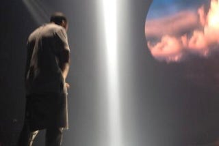 Illustration for article titled You Can Totally See Tim Duncan In These Clouds From The Yeezus Tour
