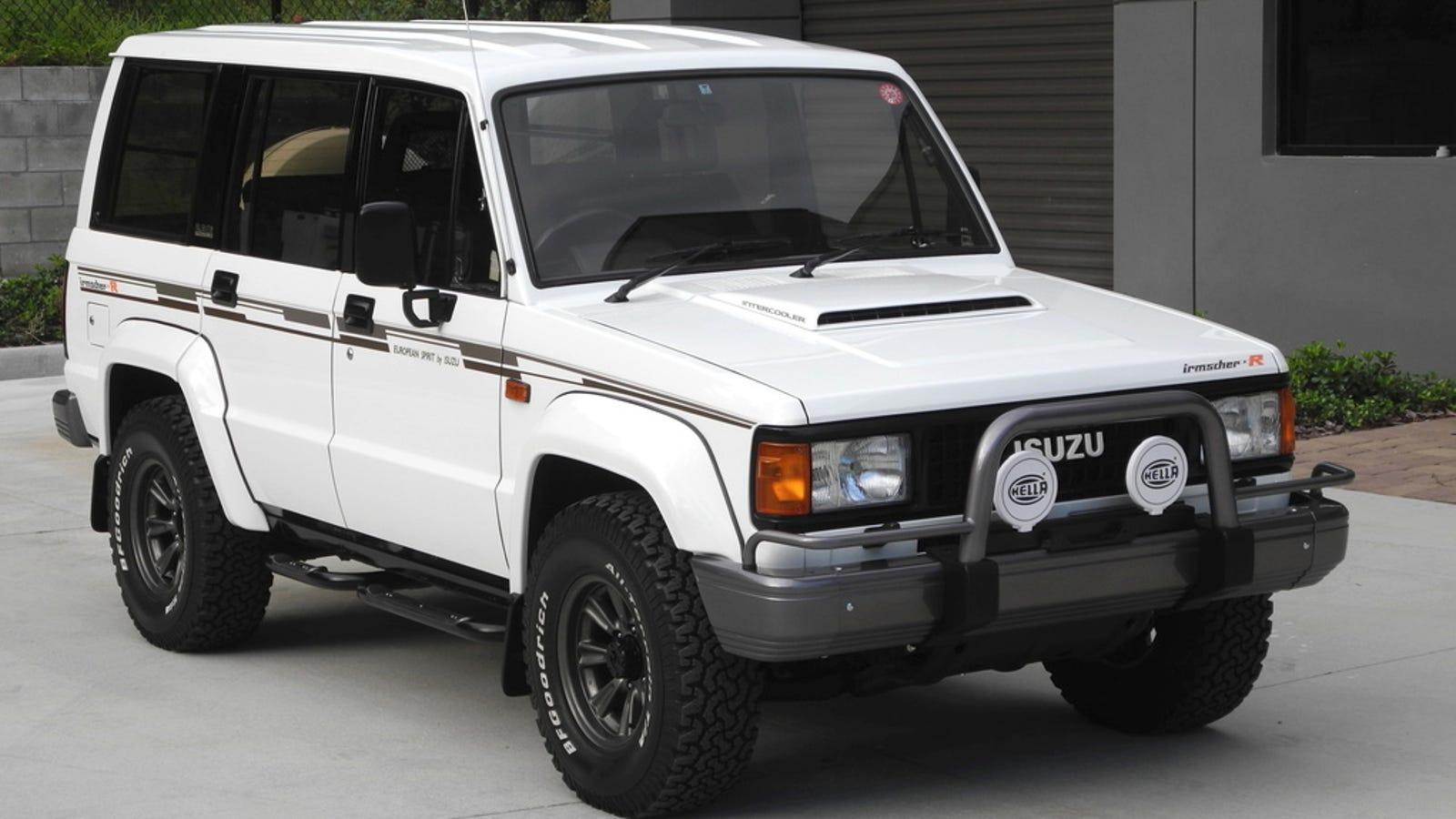 For $33,000, Does This 1989 Isuzu Trooper Bighorn Irmscher R Turbo-Diesel  Impress?