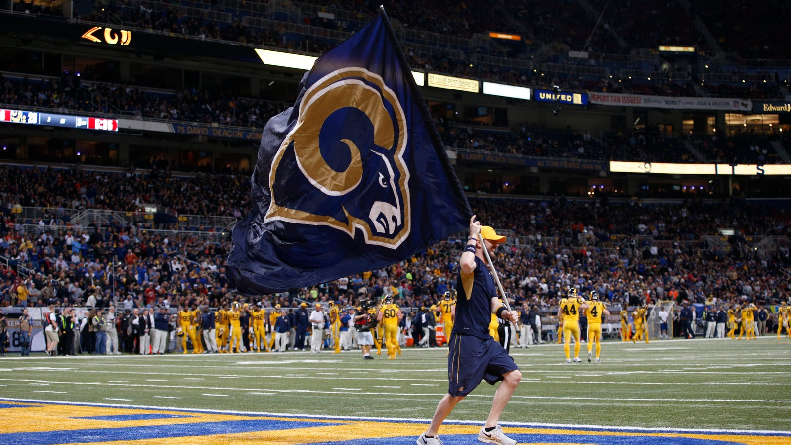Foyer Home St Louis Reims : St louis rams fans hope last night wasn t goodbye forever