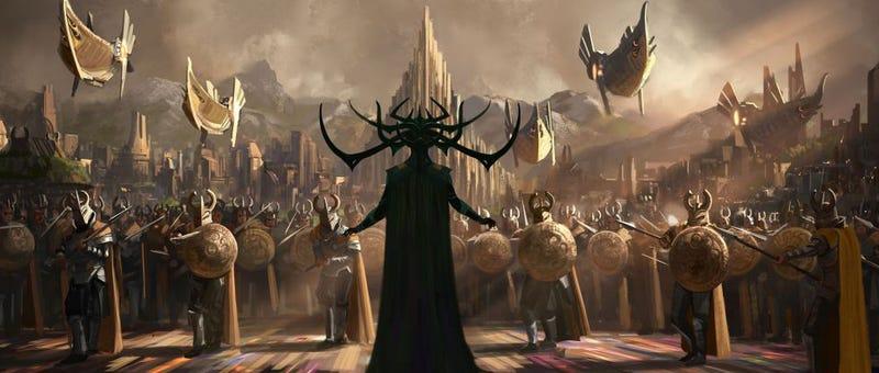 Primera ilustración conceptual del film. Imagen: Marvel