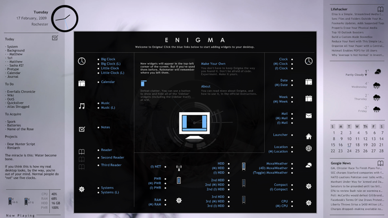 Enigma Desktop 2 0 Released, Adds Installer, Widget Manager, and