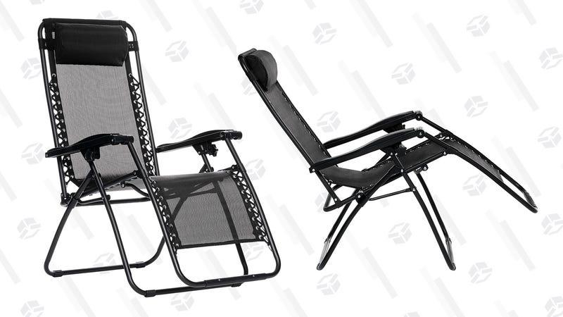 AmazonBasics Zero Gravity Chair - Black | $35 | Amazon