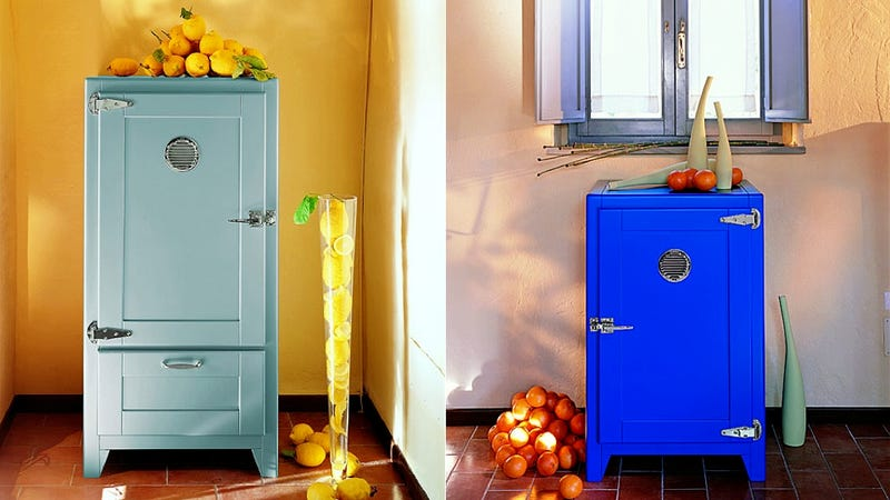 Illustration for article titled You'll Be Ashamed to Fill These Vintage-Inspired Fridges With Junk Food