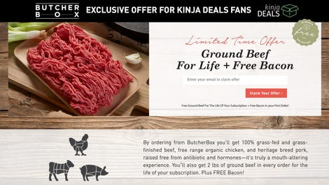 Kinja deals the best sales coupons and promo codes on the web sign up for butcher box and get two pounds of ground beef in every box forever exclusive fandeluxe Choice Image