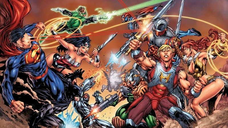Illustration for article titled DC gets ready for Superman Vs. He-Man, round 2