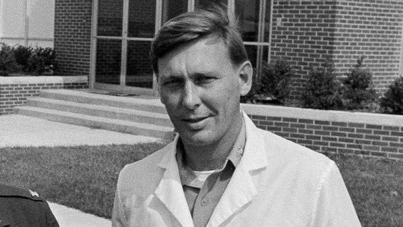 Lt. Col. James Ketchum, chief of the clinical research department at the U.S. Army's Edgewood Arsenal, on September 23, 1969