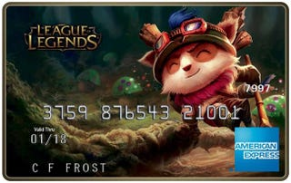 Illustration for article titled Get a League of Legends AmEx (It's a Debit Card, Though)