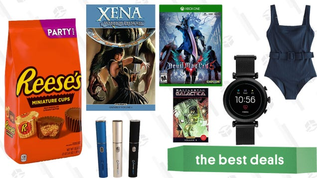 Sunday s Best Deals: Xena and Battlestar Galatica Comics, A Lot of Reese s, Fossil Smartwatches, and More