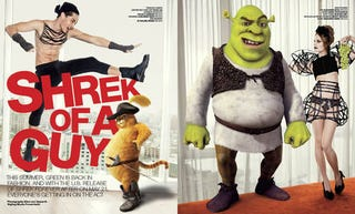 Illustration for article titled Shrek Filmmakers Not Thrilled With Sexy Shrek Fashion Spreads