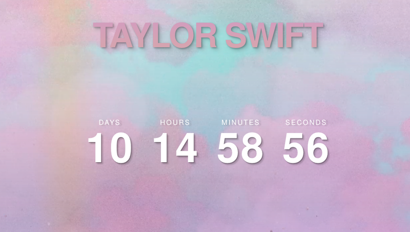 Illustration for article titled Taylor Swift Is Counting Down to Something