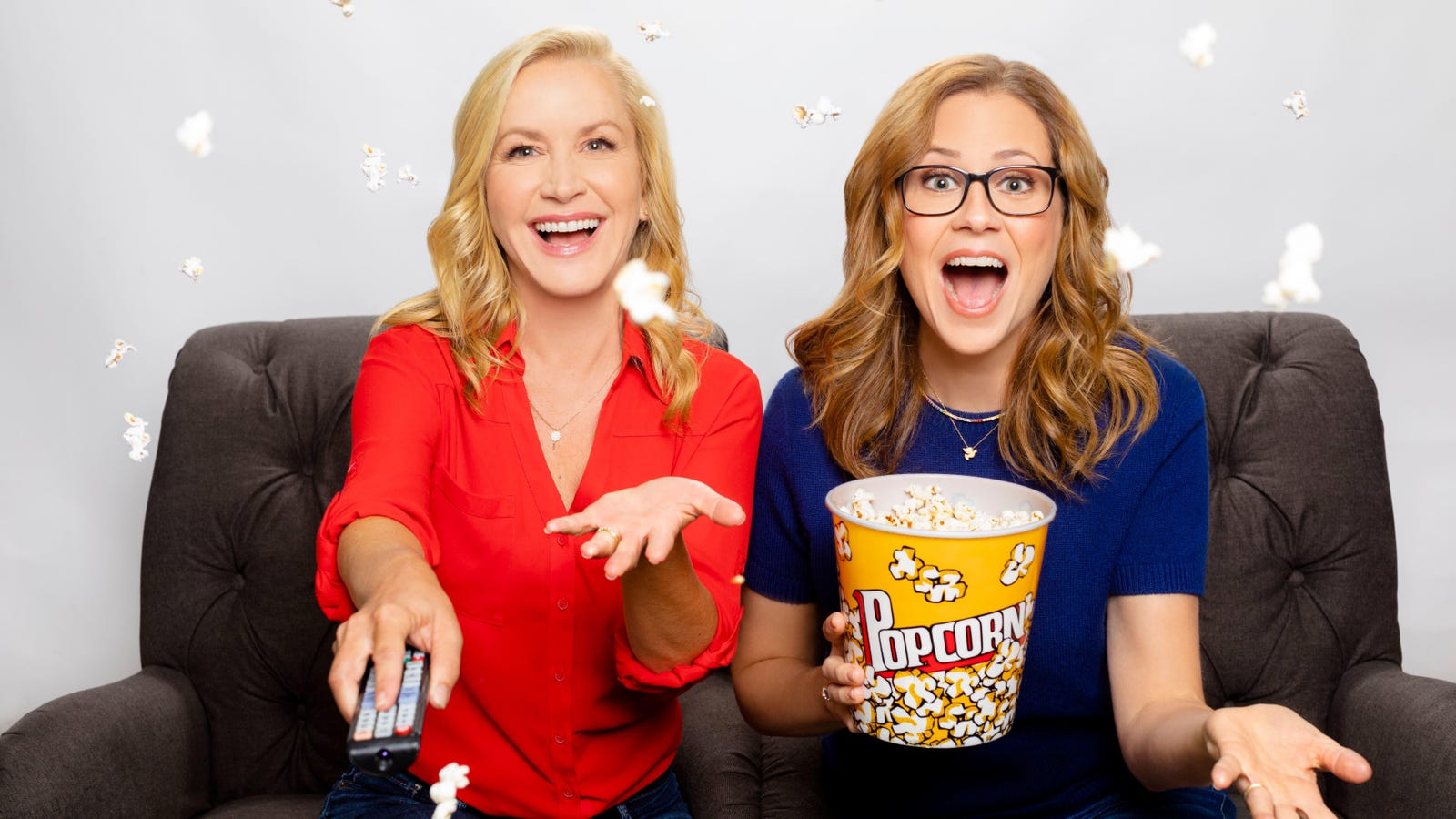Jenna Fischer and Angela Kinsey, benevolent soup snakes, are launching the Office Ladies podcast