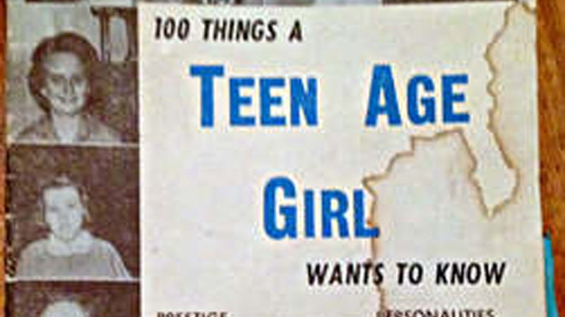 Illustration for article titled 100 Things a Teen Age Girl Wants to Know Is a Hilarious Artifact