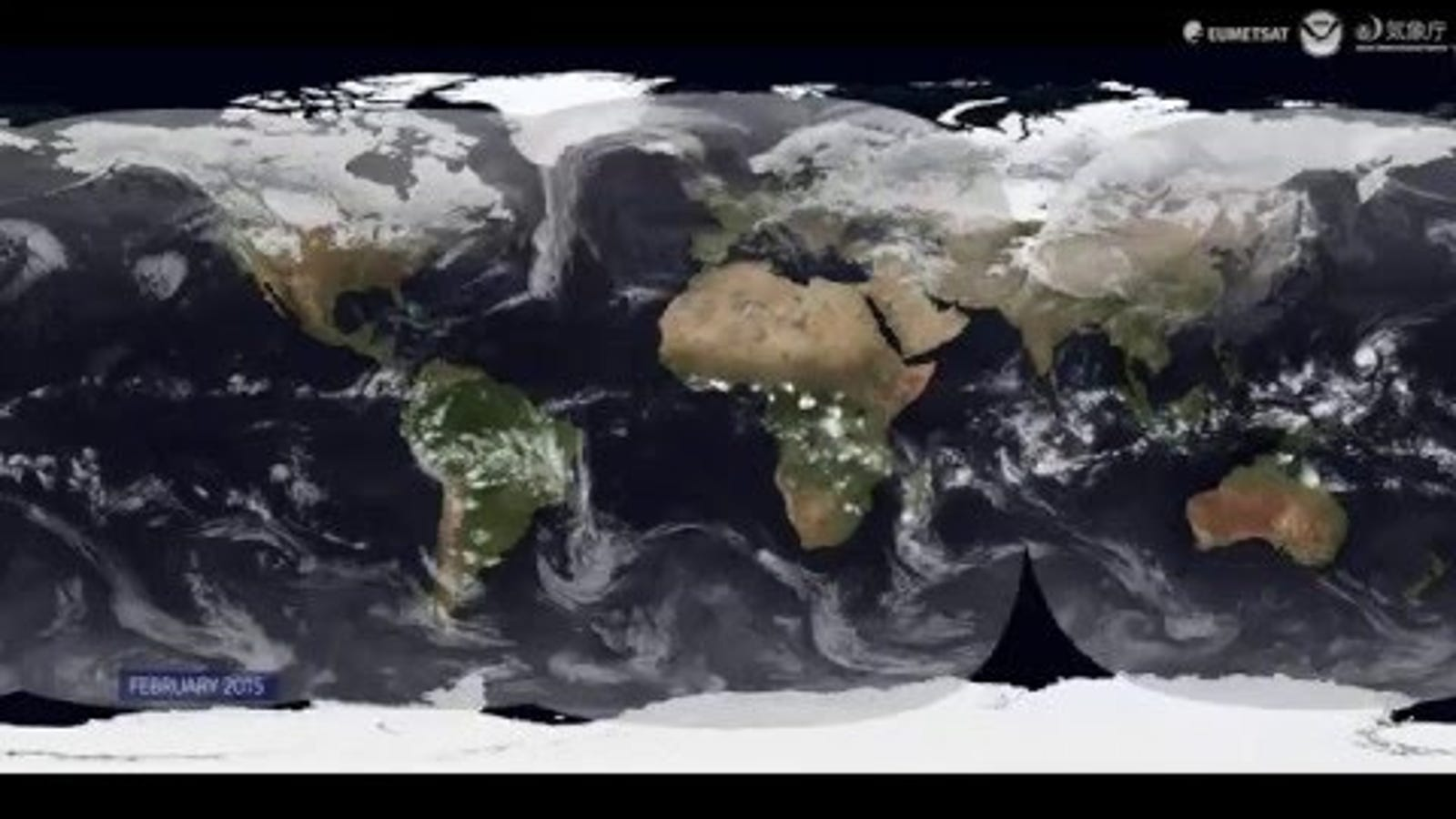 Watch an Entire Year of Weather In One Video