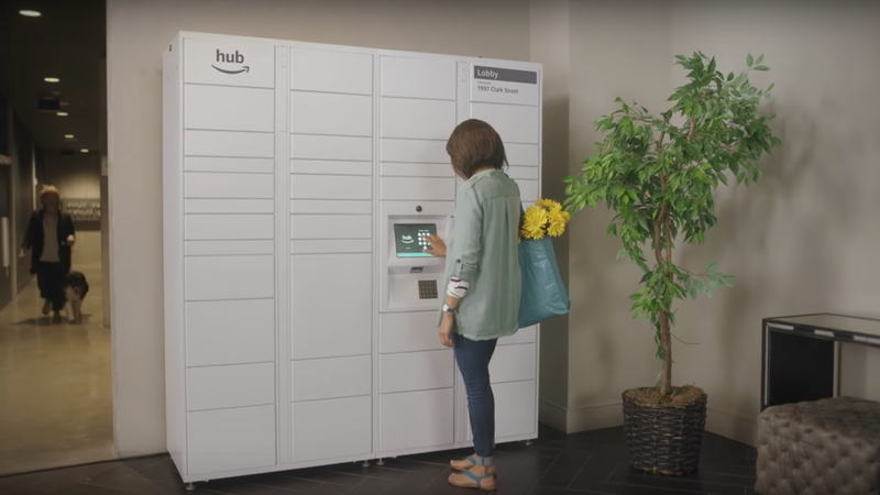Apartment Building Mailboxes amazon wants to install their slick mailboxes in your apartment