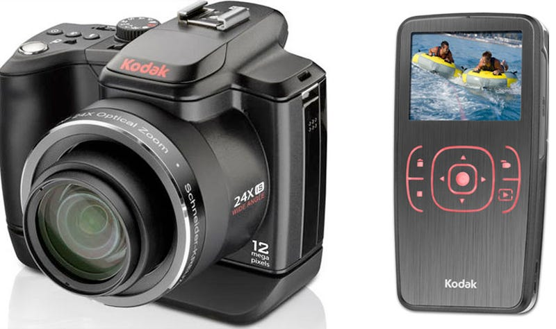 Illustration for article titled Kodak Z980 Megazoom Camera Shoots HD Video; Refreshed Zx1 Mini-Camcorder Is Cheaper, Weatherproof