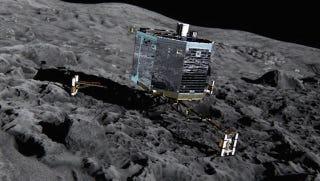 Illustration for article titled Histórico: la humanidad ha aterrizado en un cometa por primera vez
