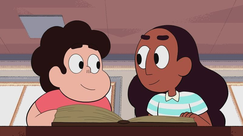 Illustration for article titled Steven Universe goes to the library