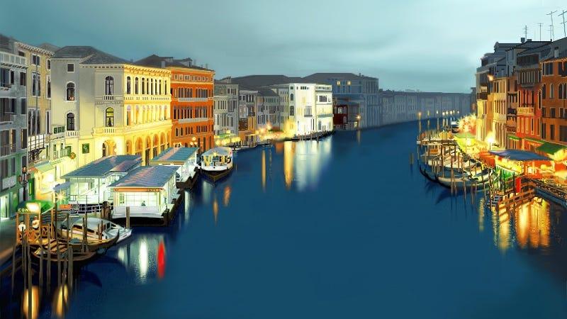 El gran canal de Venecia. Imagen: Reddit