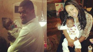 Jovan Belcher and his daughter, Zoey; Zoey with girlfriend Kasandra PerkinsFacebook