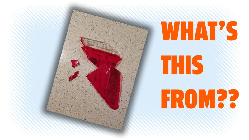 Illustration for article titled Can You ID This Shattered Tail Light From A Parking Garage Accident?