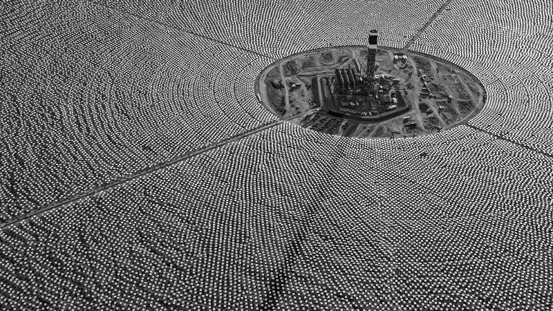 The Ivanpah CSP facility in California. The newly announced plant in Dubai will produce about 12 times the power of Ivanpah once it's complete. (Image: J_R/Flickr)