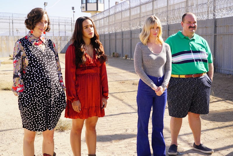 Kristen Schaal (left), Cleopatra Coleman, January Jones and Mel Rodirguez