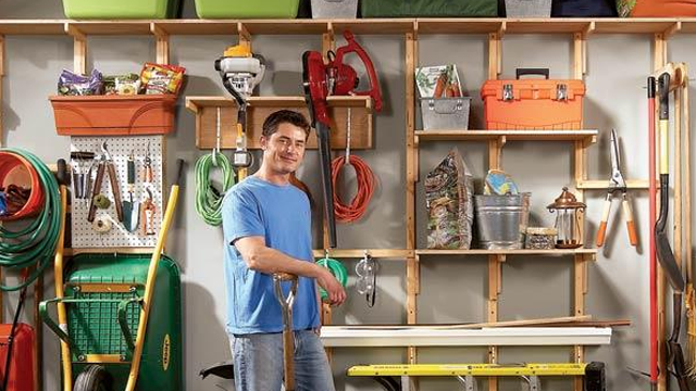 Organize Your Entire Garage With A Diy Wall Of Storage