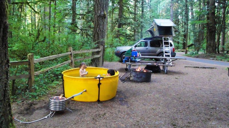 This Portable Hot Tub Makes Any Camping Trip A Luxurious Affair