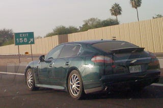 Illustration for article titled Porsche Panamera Spotted Continuing World Tour With A Drive In Arizona