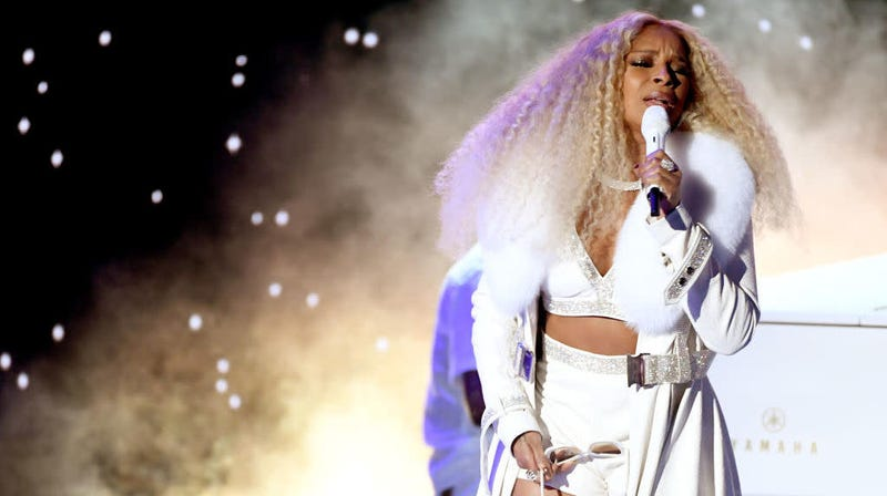 Mary J. Blige performs onstage in Los Angeles June 23, 2019, at the 2019 BET Awards, where she was honored with the Lifetime Achievement Award.