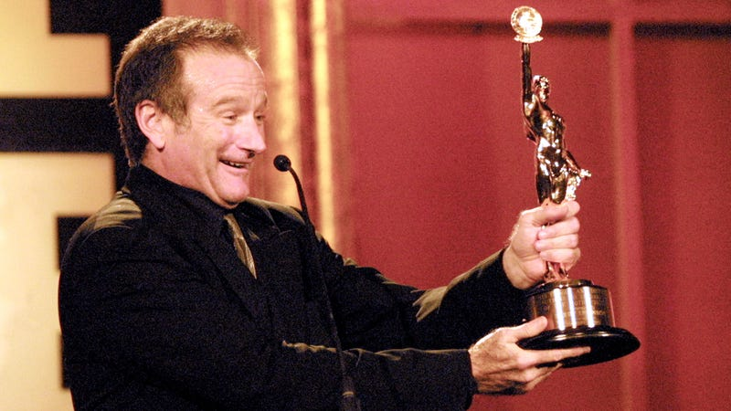 Robin Williams, seen above presenting an award during the 2002 ACE Eddie Awards. Photo: Getty