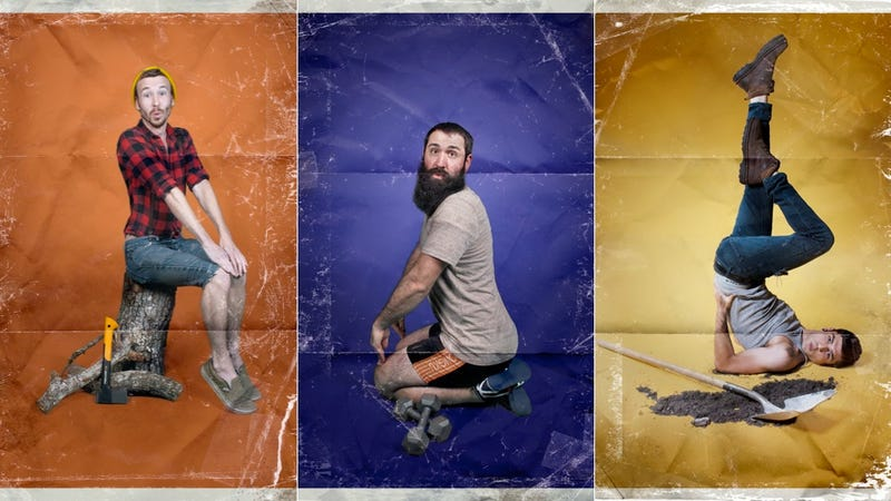 Illustration for article titled 'Men-Ups' Are So Much More Than Just Men Posing Like Pin-Ups
