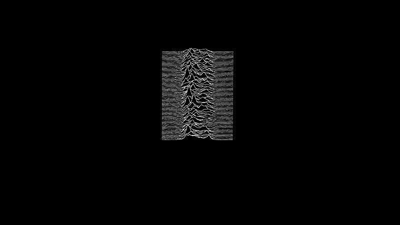 The famous cover of Joy Division's Unknown Pleasures LP