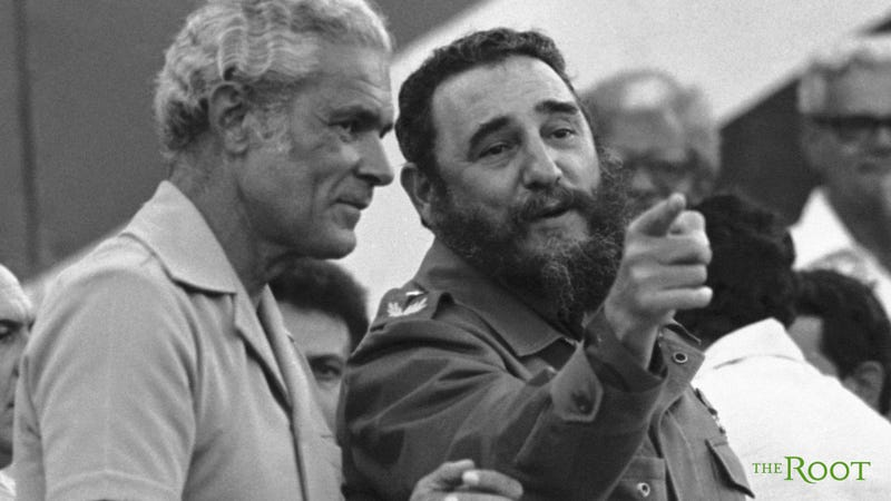 Michael Manley (left), Jamaican prime minister from 1989 to 1992, with Cuban President Fidel CastroThe Root TV screenshot