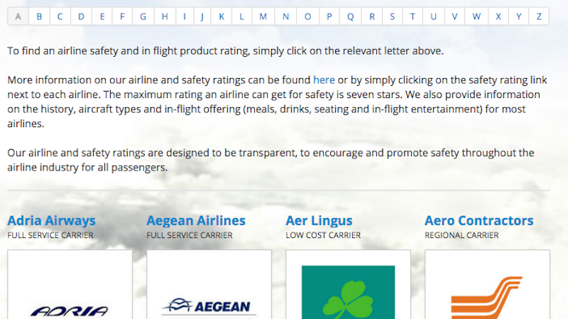 Illustration for article titled Airline Ratings Lists Everything You Need to Know About an Airline and Its Safety Record