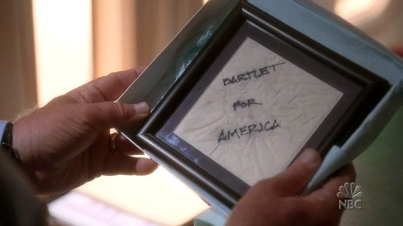 """Illustration for article titled The West Wing: """"Bartlet For America"""""""