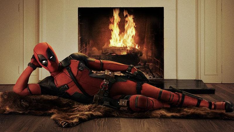Illustration for article titled Ryan Reynolds released a photo of himself posing seductively as Deadpool