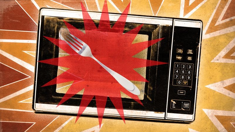 Metal In Microwave - Magazine cover