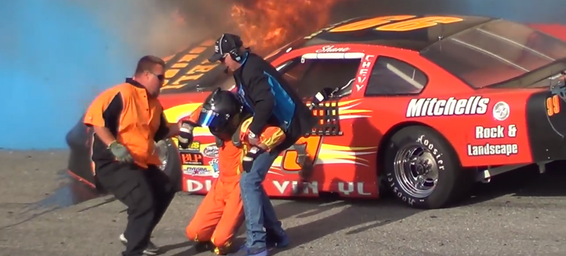 Illustration for article titled Late Model Horror Crash Shows How Not To Respond to An Accident [Update]