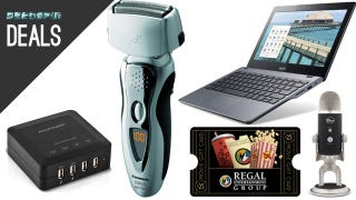Illustration for article titled Deals: Arc3 Shaver, $180 Chromebook, Gadget Chargers, Gift Cards