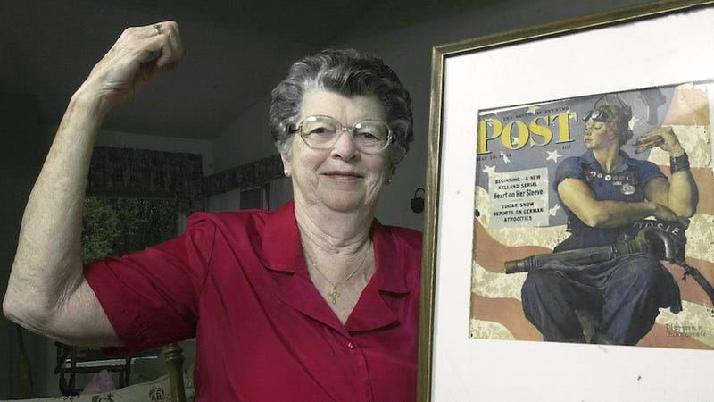 Illustration for article titled Norman Rockwell's 'Rosie the Riveter' Model Dead at 92