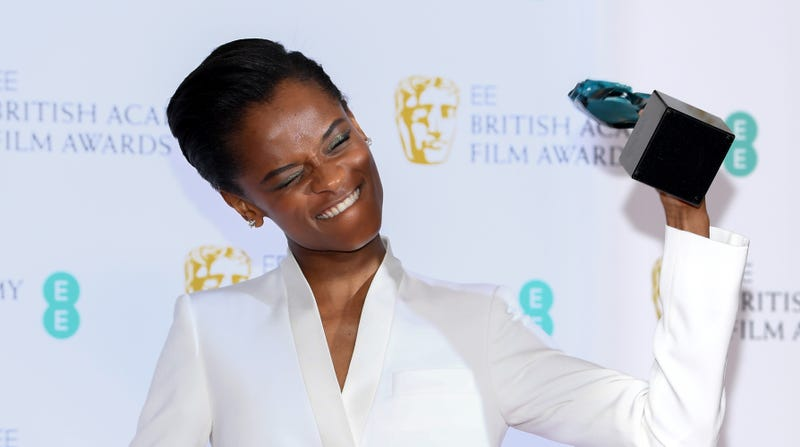 Winner of the EE Rising Star award Letitia Wright poses in the press room during the EE British Academy Film Awards on Feb. 10, 2019, in London.