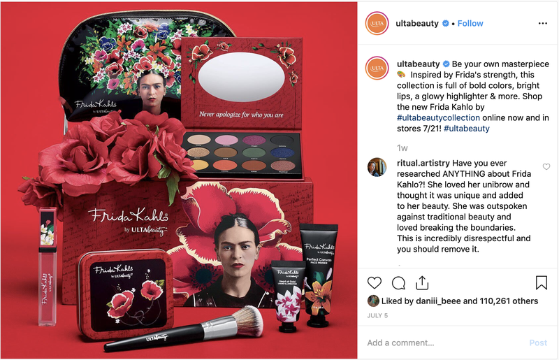 Illustration for article titled Seems Like Some Asshole Messed With Frida Kahlo's Face to Sell Makeup