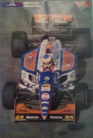 Illustration for article titled We Still Fondly Remember Michele Alboreto, Here In Monza...