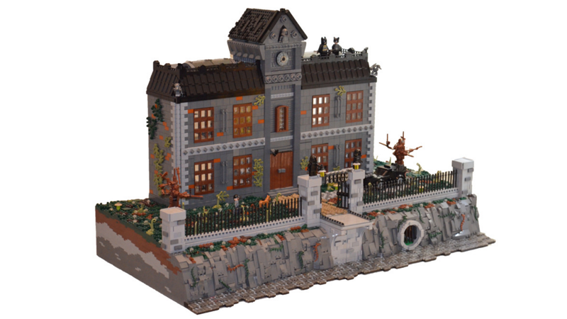 This is a fantastic, giant LEGO version of Arkham Asylum, created by ...