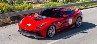 Illustration for article titled The $4.2 Million One-Off Ferrari F12 TRS Is Live In The Wild