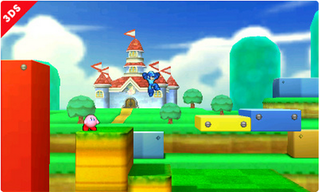 Illustration for article titled You Can Only Play This Cool Smash Bros. Stage On The 3DS